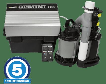 Gemini Submersible Dual Sump Pump System